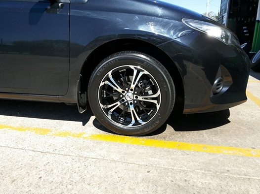 16x7 CSA Shaker fitted to a 2013 Toyota Corolla, call us for a quote today.