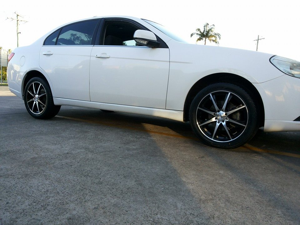 17x7 CSA Motorvatr On a 2008 Holden Epica Wheel and tyre package From $1180.00.